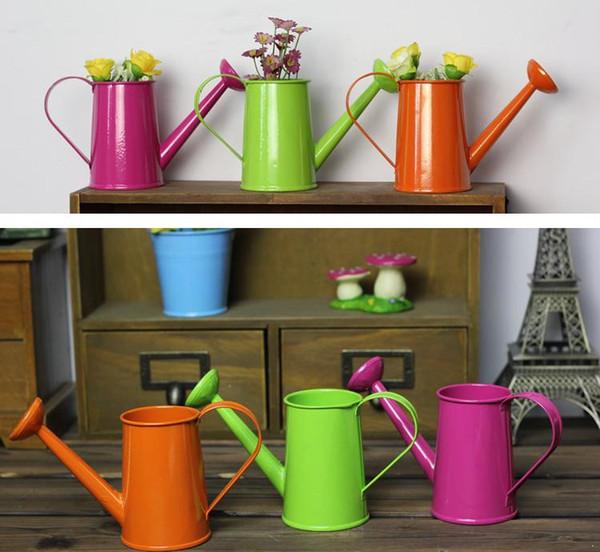 Envío gratis favor del metal cubo pequeño pequeño regadera cubo flor metal decorativos latas de agua cubos de fiesta SN2874