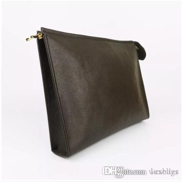 Designer Wallet letter flower Coffee Black lattice mens bags women wallets Cosmetic bag zipper Designer Handbags purses 47542 Come with BOX