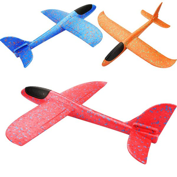 3 STÜCKE Segelflugzeug Spielzeug Set für Kinder 18 Zoll, Handwurf Fliegen Schaum Flugzeug Spielzeug, Flugzeug Spaß Beste Outdoor Spaß für Kleinkind Jungen Mädchen