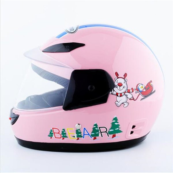 Sale Cheapest Price Kids baby Helmets safe full face children motorcycle electric bicycle muffler cartoon