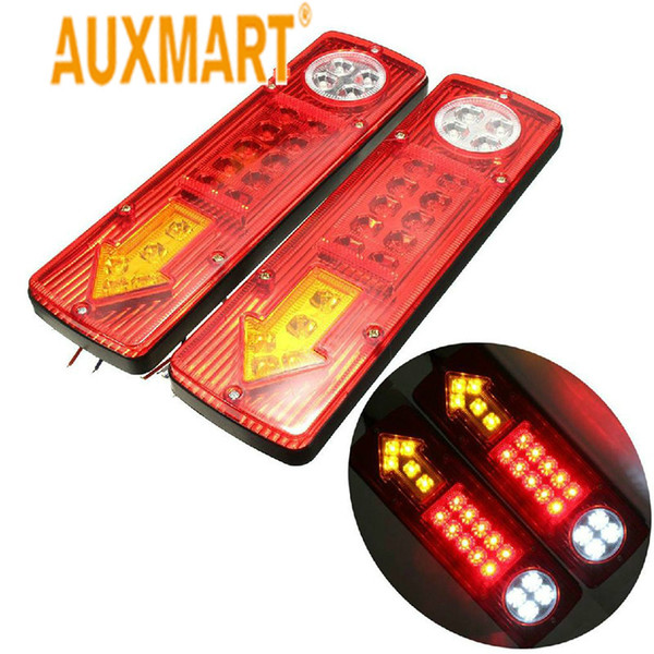 wholesale 2x Car Led Trailer Tail Light 12V Left & Right Earth Reverse Stop Indicator Light Waterproof For Trucks Utes Caravans