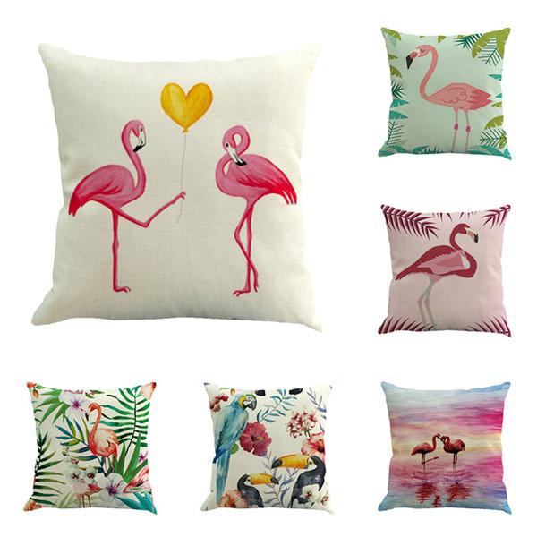 Flame Bird Pattern Fronha Capa Decorativa Assento Animal Fronha 45 * 45 cm Lance Macio Fronha