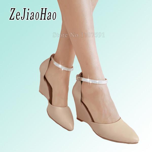f17362b3c5d 2017 nuevo verano tacones altos plataforma mujer zapatos sandalias de cuña para  las mujeres marca sexy