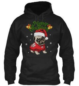Pug ChriNewmas Ugly Sweater Funny Hoodie Sweatshirt
