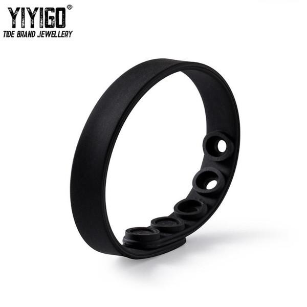 1 pièces bouton blanc boucle Bracelet en silicone personnalisé bracelet réglable