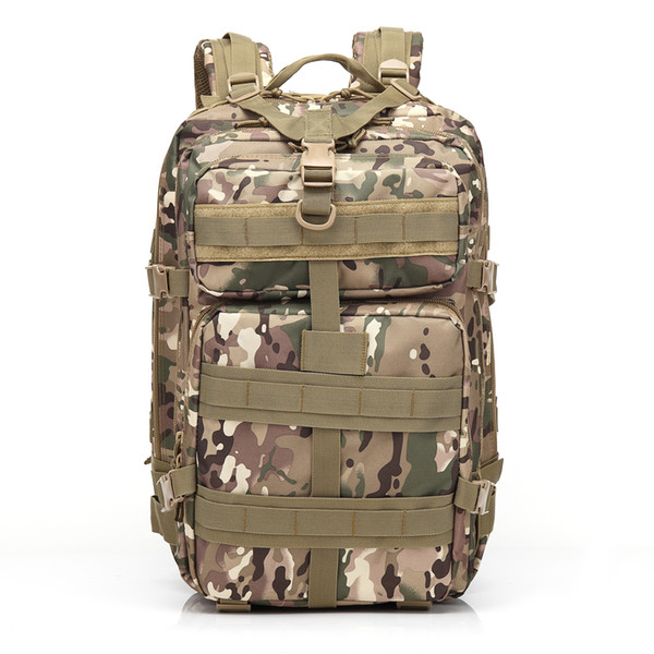 BL047 3P 45L Outdoor Marching Knapsack Tactical Backpack CP Camouflage