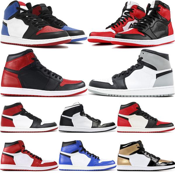 1 High OG Mens Basketball-Schuhe Top 3 Chicago Verboten Zuchtschatten Gold Beste Qualität Designer Herren Leichtathletik Turnschuhe Trainer
