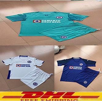 DHL Бесплатная доставка 2019 2020 Мексика клуб Liga MX CDSC Cruz Azul дети футбол Джерси дома синий Размер XXS-XXL
