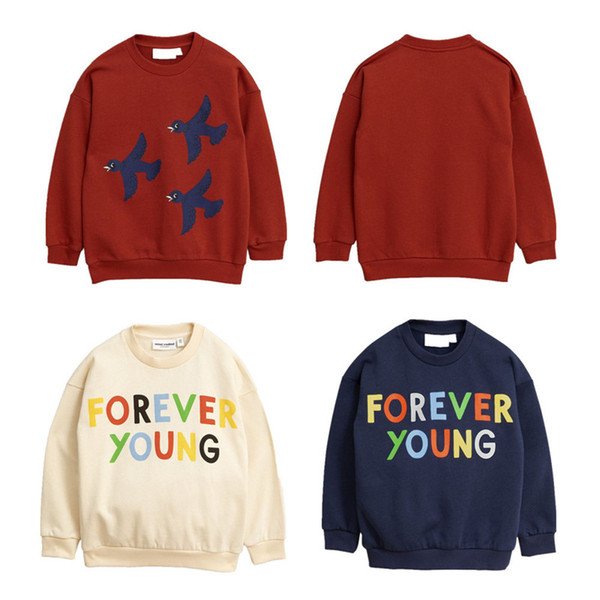 best selling Kids INS Autumn Sweater Cotton Blends Round Collar Forever Young Sweater Children Spring Autumn Fashion Costume