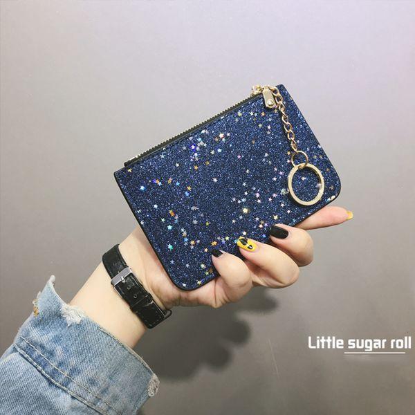 2018 Fasion Mini Borsa a portafoglio con paillettes per bambina Paillette Kashelek Femminile piccola cerniera a portafoglio Piccola borsa a moneta SX0643