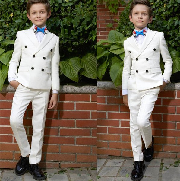 Boy Suit Fashion Handsome Two Piece Harringbone Suit jacket pants Boy Graduation Ceremony Pants Wedding Prom Party Tuxedos Suits Custom