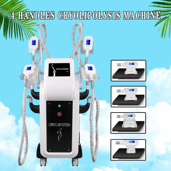 Venta al por mayor de alta calidad Cryolipolysis 4 Cryo Cabezas Máquina de adelgazamiento de congelación de grasa Body Sculpting Slimming Venus CE Approved