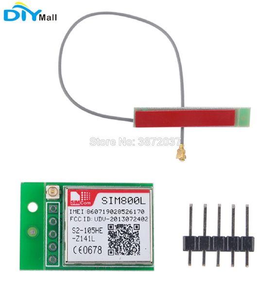 SIM800L GPRS GSM Module Quad-band TTL Serial Port 2G Network+ PCB Antenna Bomb Slot Automatic MicroSIM Card