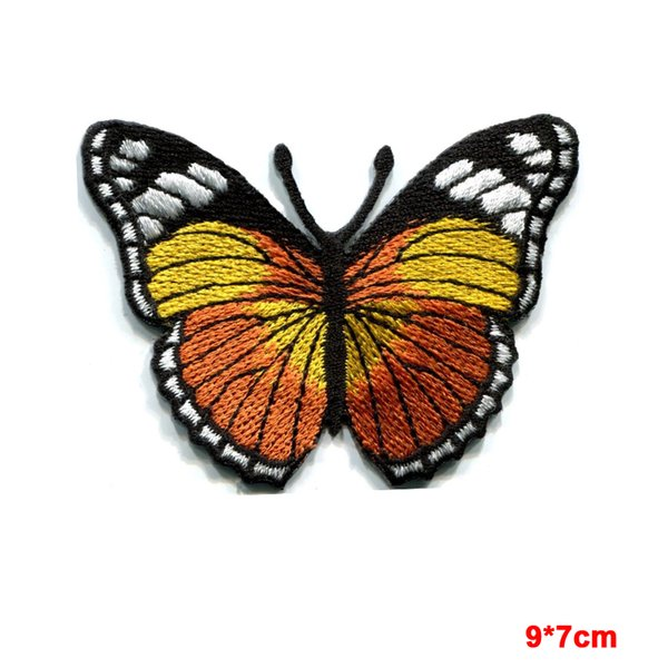 Butterfly hippie retro boho love peace embroidered iron-on patch for clothes girls boys iron on patches