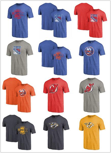 New Jersey Primary 2020.2019 2020 Sweatshirt Men Nashville Predators New Jersey Devils New York Islanders New York Rangers Team Primary Logo Tri Blend T Shirt From