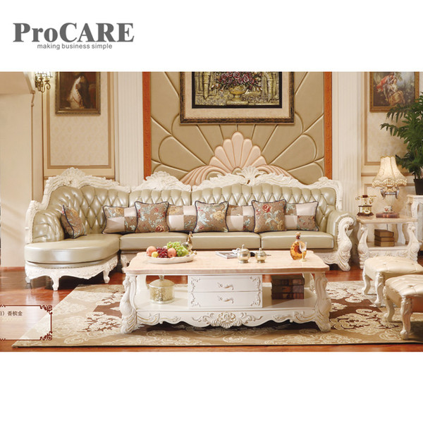 2019 Classic European Style Cattle Leather Corner Sofa Sets A951B From  Procarefoshan, $4472.37 | DHgate.Com