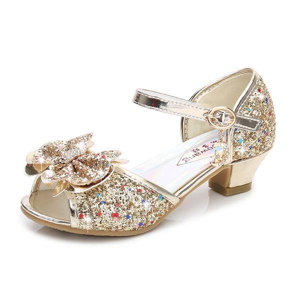 Gold Princess Sandals