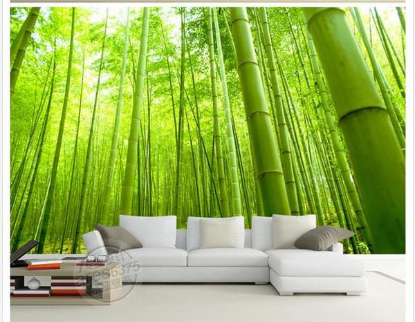 Bambú fresco mural Fondo de TV mural de pared papel tapiz 3d papeles de pared 3d para telón de fondo de televisión
