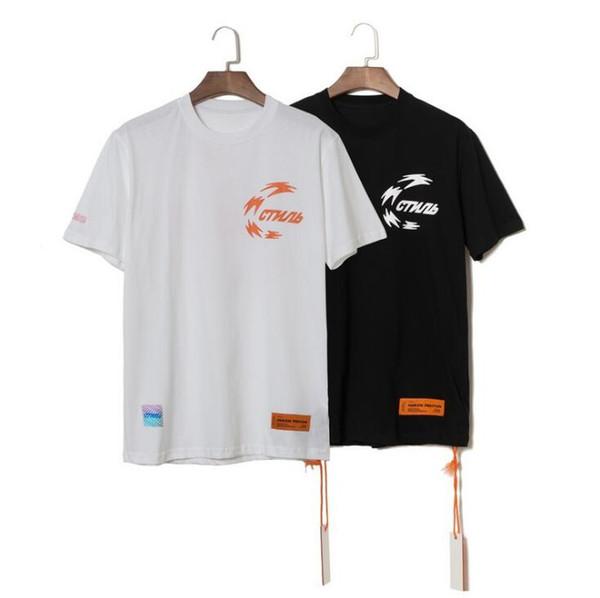 Camisetas de hombre Heron Preston x NASA Tops de manga corta Diseñador Camisetas con cuello redondo Hombres Mujeres