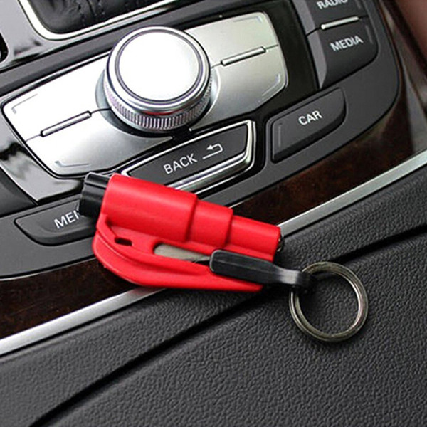 Mini 3 in 1 Seatbelt Cutter Emergency Glass Breaker Key Chain Tool Smart AUTO Emergency Safety Hammer Escape Lift Save Tool SOS Whistle 0002