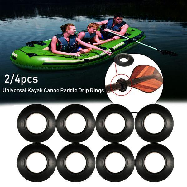 4Pcs Propel Paddle Splash Guards Balck Drip Ring Universal Kayak Oar Accessories