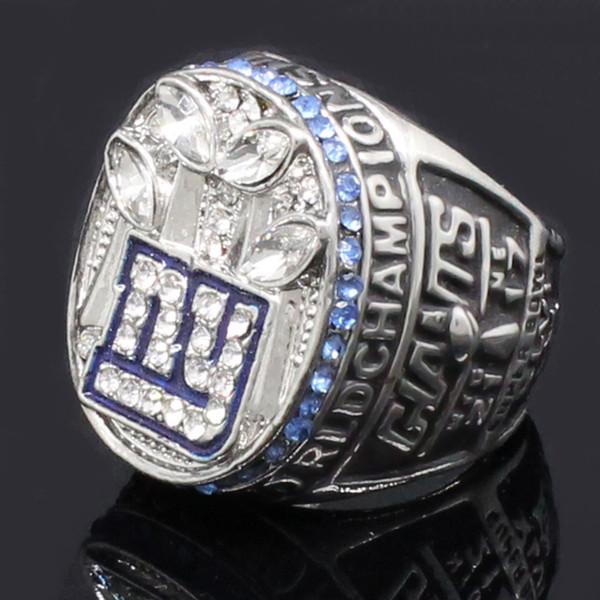 2011 New York Giants Campeonato Anéis Anéis de Acessórios Europeus e Americanos Dos Homens Do Vintage