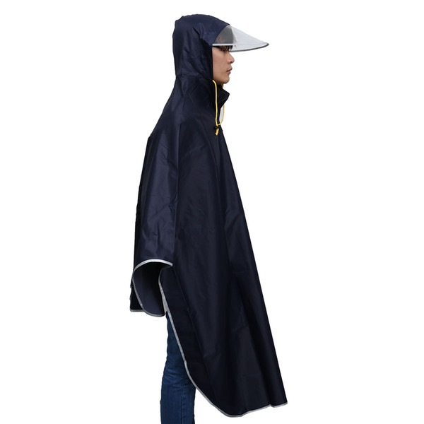 Bicycle Bike Raincoat Full Cover Rain Cape Poncho Hooded Windproof Waterproof Rain Coat With Cap Men Women's Cycling Motor Cover