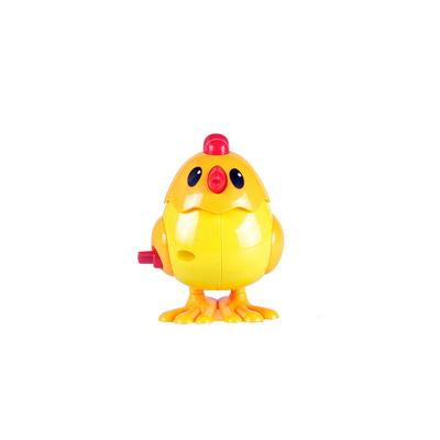 On the chain Wind-up toy cock small yellow duck clockwork jumping chicken jumping duck strip novelty children's toys Christmas birthday gift