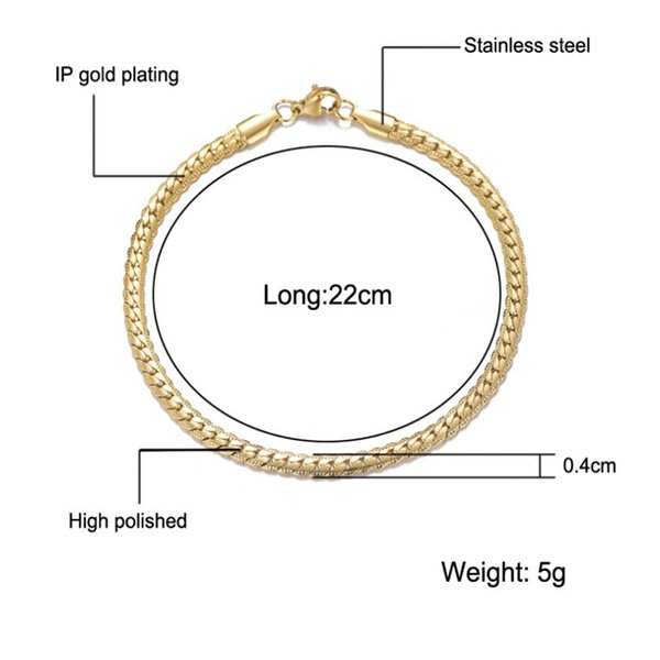 Gold-4 milímetros-22 centímetros