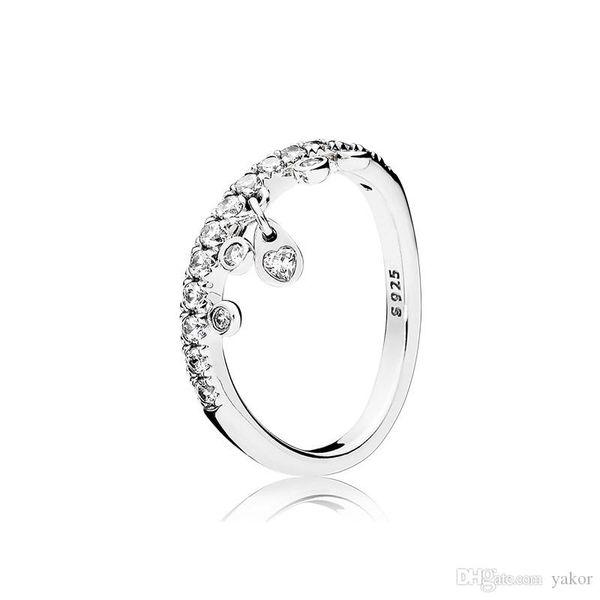 NEW Fashion Heart CZ Diamond Pendant RING Set Logo Original Box for Pandora 925 Sterling Silver Women Gift Jewelry Rings