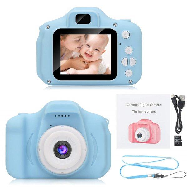 HD Kids Video Cameras Shockproof Cameras with Soft Silicone Shell Gift for 3-9 Years Old Girls Boys Party Outdoor Play(16G SD Card Included)