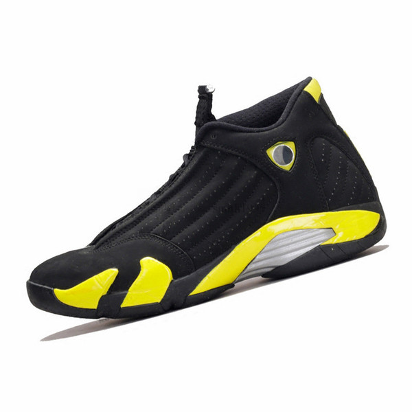 best service 2b962 346c3 2018 Basketball Shoes 14 14s Mens DMP Yellow Thunder Desert Sand White  Black Toe Grey Mens Sneakers Sport Shoes Size 8 13 Cheap Shoes 4e  Basketball ...