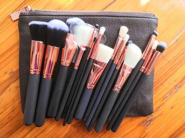 Hot Sale Brush 15pcs/Set Professional Makeup Brush Set Eyeshadow Eyeliner Blending Pencil Cosmetics Tools With Bag