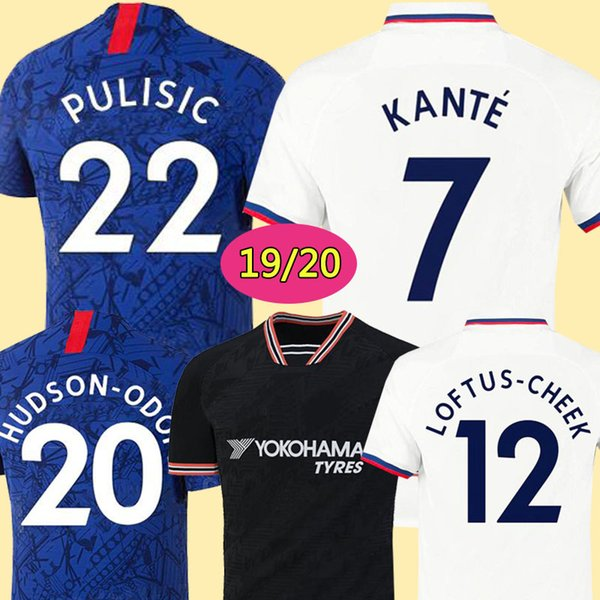 Thailand PULISIC KANTE ABRAHAM LAMPARD ODOI WILLAN soccer jersey 2019 2020 MOUNT Camiseta de football kits shirt 19 20 MEN KIDS SETS