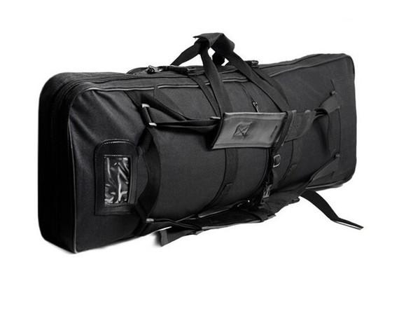 1M SWAT Dual Tactical Heavy Duty multi-purpose messenger large capacity bag Carrying Case for Rifle Gun Black Hunting Bags #263419