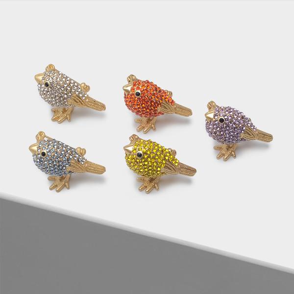 Оптовая симпатичные птица брошь 8 цветов дополнительные моды брошь