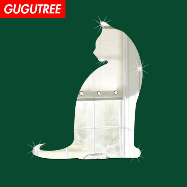 Decorate Home 3D cats animal cartoon mirror art wall sticker decoration Decals mural painting Removable Decor Wallpaper G-253
