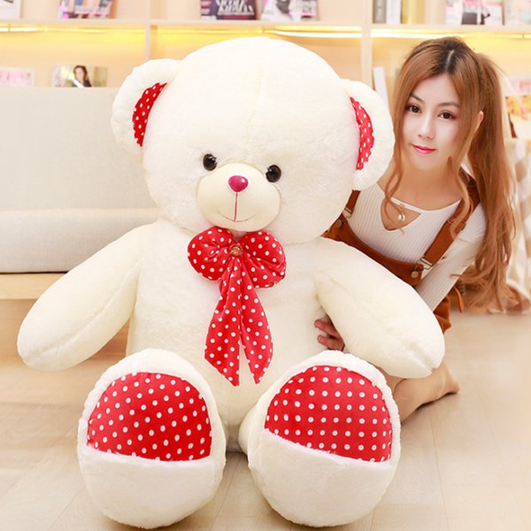 Big teddy bear real doll teddy care bears baby doll toys for children stuffed toys animal gift for girlfriend