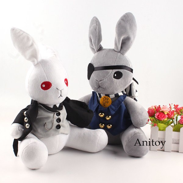 Anime Kuroshitsuji Black Butler Peluche Bambola Coniglio Cosplay Ciel Phantomhive Peluche per Bambini 32 cm Y19070103
