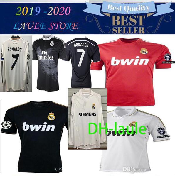 2011 12 13 14 15 Real Madrid maison maillot de football loin ligue 04/05 RAMOS KAKA RONALDO RAUL BENZEMA ALONSO 98 99 maillot rétro chemise classique