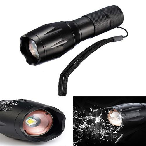 XM-L T6 5000Lumens LED Flashlight High Power LED Torch Bike Light Rechargeable Zoom Tactical Flashlight for Camping Hunting Wholesale