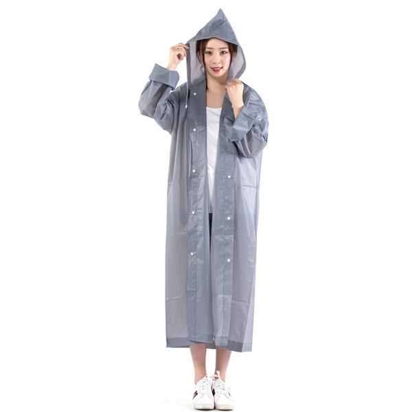New 2017 Hot spring and autumn raincoat women raincoat for children poncho EVA Adult and Children Raincoat men Non-disposable #319342