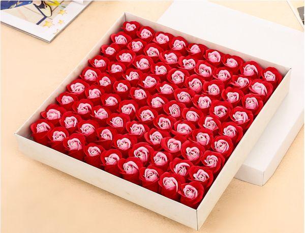 81 pcs Mini Mousse Rose Fleurs Artificielles Pour La Maison De Mariage Décoration BRICOLAGE Guirlande Pompon Décoratif De Mariée Fleur Faux Fleur