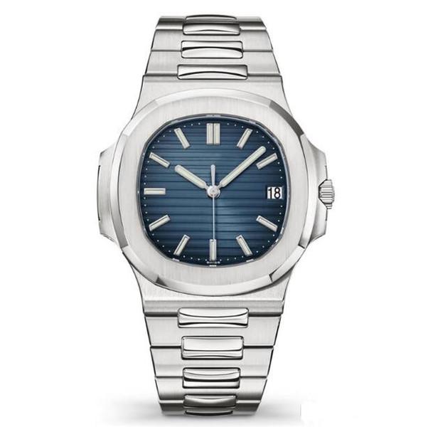 Top Nautilus Watch Herren Automatik Luxusuhren 5711 Silberarmband Blau Edelstahl Herren Mechanisch Orologio di Lusso Armbanduhr Datum Chrono