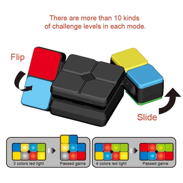 Toy Car Crianças Natal Dropship ornamentos decoração interior Acessórios carro Cube Magic Cube eletrônico com Led Light Enigma