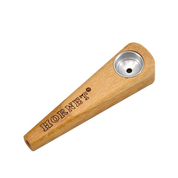 Новейший из натурального дерева ручной работы Handpipe Курение пробки Herb Табак Портативный Металл Чаша Инновационный дизайн трубы высокого качества Настраиваемый DHL