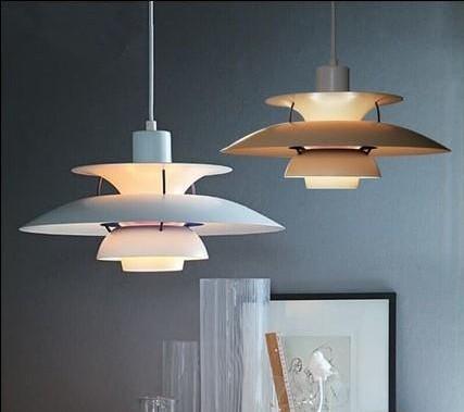 Acheter Lampe Moderne Danemark Louis Poulsen PH5 Lampe De Chambre À Coucher  Lampe Suspension Blanche Noire Suspension Droplight Living Dining LLFA De  ...