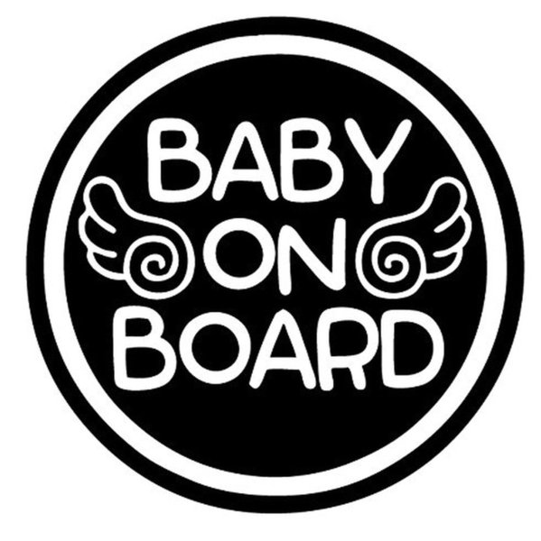 Angel Wings Baby on Board Sticker Decal Safety Caution Sign for Car Window Cute And Interesting Fashion Sticker
