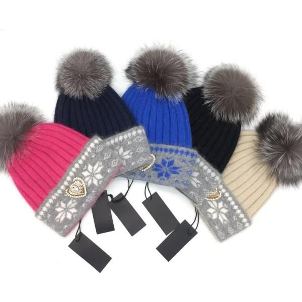 New brand design Autumn and winter high quality 70% wool 30% rabbit hair material free size hat cap for women