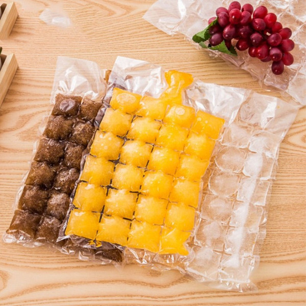 Creative Disposable Ice Cube Bags 10Pcs Frozen Juice Clear Sealed Pack Ices Making Mold Summer DIY Drinking Tray Tool